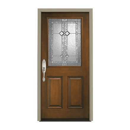 Architect Series Half Light Entry Door with Glass